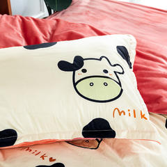 2018新款-棉+绒床垫套单品枕套 47cmx74cm/一只 爱的蒙牛