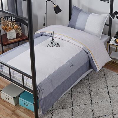 2020新款舒适13372全棉学生宿舍三件套 三件套 埃菲尔-灰