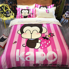 全棉Kapa猴四件套 200*230cm kapo-草莓love