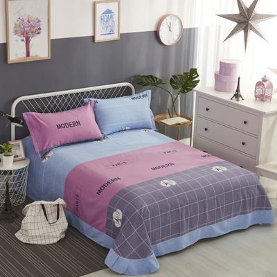 加厚生态磨毛单品 床单 180cmx240cm 巴黎之约蓝