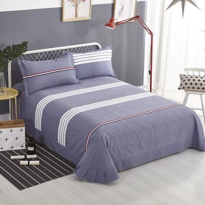 加厚生态磨毛单品 床单 180cmx240cm 布鲁斯-灰