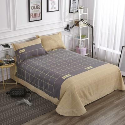 加厚生态磨毛单品 床单 180cmx240cm 苏格拉