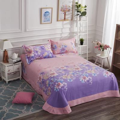 加厚生态磨毛单品 床单 180cmx240cm 一梦千寻-紫