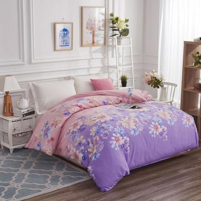 加厚生态磨毛单品被套 160x210 cm 一梦千寻-紫