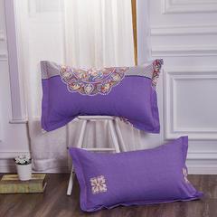 梧桐树- 全棉加厚磨毛单品 (枕套) 48cmX74cm/一对 31夜色迷人 紫