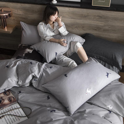 2019新款-全棉轻奢工艺款四件套 1.2m(4英尺)床 密语