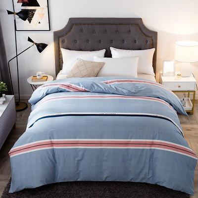 2019新款-全棉磨毛单品被套 160*210cm 自由风尚-蓝