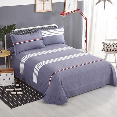 2019新款-全棉磨毛单品床单 180cmx240cm 布鲁斯 灰