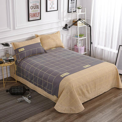 2019新款-全棉磨毛单品床单 180cmx240cm 苏格拉
