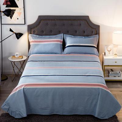 2019新款-全棉磨毛单品床单 250cmx245cm 自由风尚-蓝