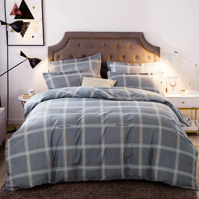 2019新款-全棉磨毛四件套 床单款三件套1.2m(4英尺)床 贝拉维拉-灰