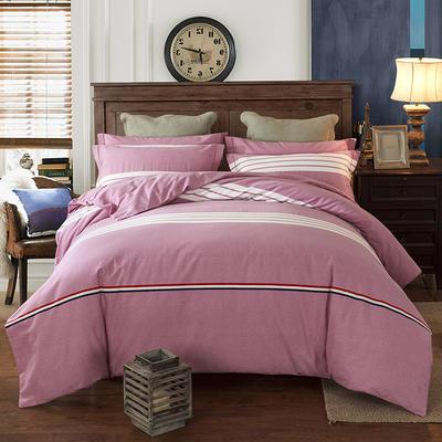 2019新款-全棉磨毛四件套 床单款三件套1.2m(4英尺)床 布鲁斯 红