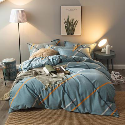 2019新款-全棉磨毛四件套 床单款三件套1.2m(4英尺)床 杰西