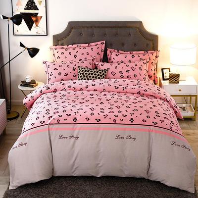 2019新款-全棉磨毛四件套 床单款三件套1.2m(4英尺)床 可爱多