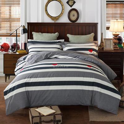2019新款-全棉磨毛四件套 床单款三件套1.2m(4英尺)床 魔力心情