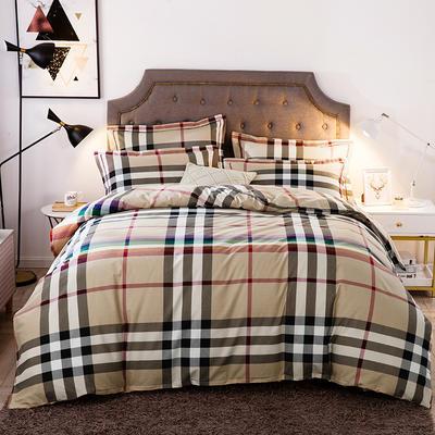 2019新款-全棉磨毛四件套 床单款三件套1.2m(4英尺)床 炫彩格调
