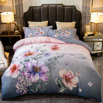 2019新款-全棉大版磨毛四件套 床单款四件套1.8m(6英尺)床 满月