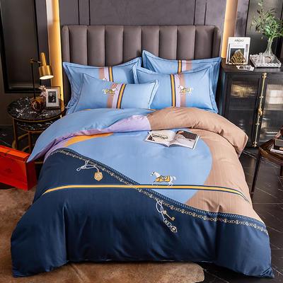 2020新款-大版生态磨毛四件套 床单款四件套1.8m(6英尺)床 艾瑞卡