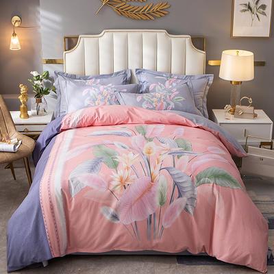 2020新款-大版生态磨毛四件套 床单款四件套1.8m(6英尺)床 芬芳季节