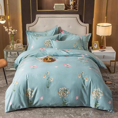 2020秋冬新款-多规格全棉磨毛四件套 床单款四件套1.8m(6英尺)床 晨晓