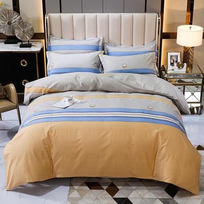 2020秋冬新款-多规格全棉磨毛四件套 床单款三件套1.2m(4英尺)床 乐天派