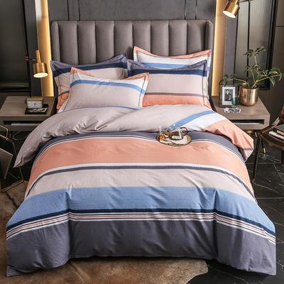 2020秋冬新款-多规格全棉磨毛四件套 床单款四件套1.5m(5英尺)床 流金岁月