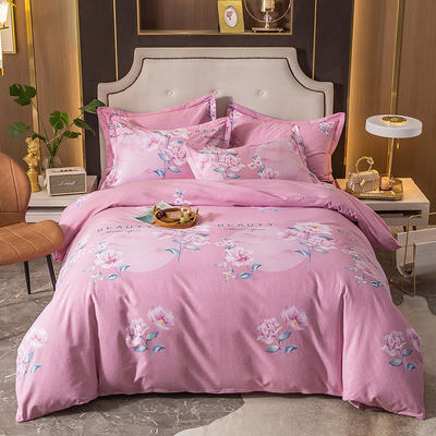 2020秋冬新款-多规格全棉磨毛四件套 床单款四件套1.8m(6英尺)床 梦境