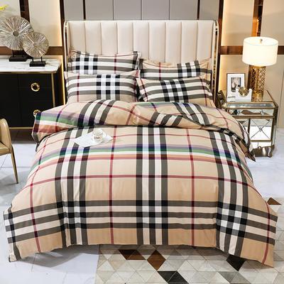 2020秋冬新款-多规格全棉磨毛四件套 床单款三件套1.2m(4英尺)床 炫彩格调