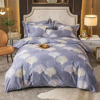 2020秋冬新款-多规格全棉磨毛四件套 床单款四件套1.5m(5英尺)床 银杏