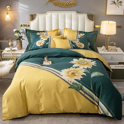 2020新款-大版生态磨毛四件套 床单款三件套1.2m(4英尺)床 华彩盛宴