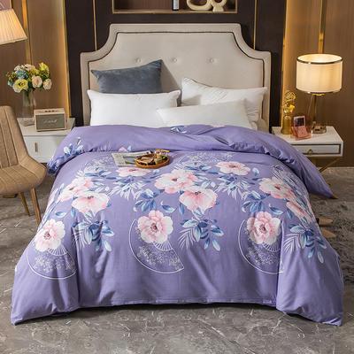 2020新款-多规格全棉磨毛单被套 180*220 淡雅花香 紫