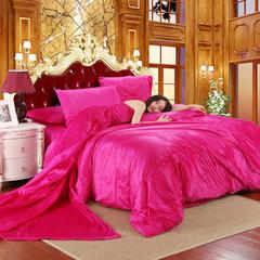 17年天鹅绒四件套 1.5m(5英尺)床 玫红
