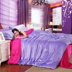 17年天鹅绒四件套 1.5m(5英尺)床 浅紫玫红