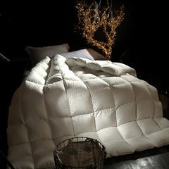 95%白鹅绒臻绒棉鹅绒被  被子被芯 200X230cm4.7斤 白色