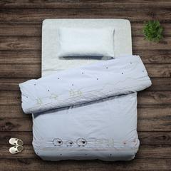 今日特卖 快乐迪 纯棉卡通绣花棉喔 儿童水洗棉柔软被套 蓝