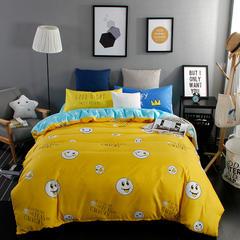 平纹混搭四件套 1.2m(4英尺)床 可爱笑脸