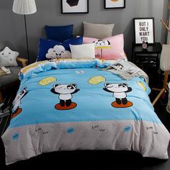 平纹混搭四件套 1.2m(4英尺)床 快乐熊猫-2