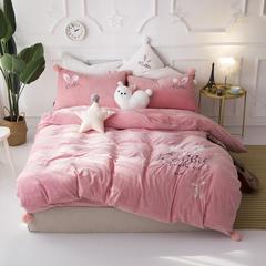 宝宝绒四件套(兔小姐的耳朵) 1.5m(5英尺)床 2