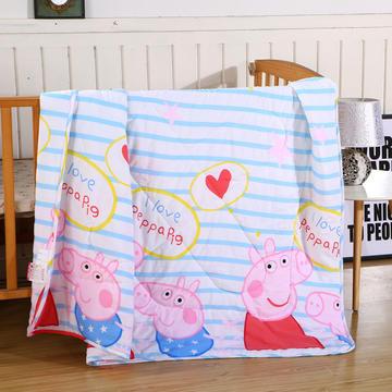 小猪佩奇夏被 水洗棉小猪佩奇夏凉被 空调被 110x145cm 水洗棉猪小妹