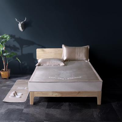 可机洗冰丝提花凉席床席款 150*200cm 818-16北欧物语