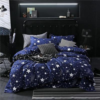 2019芦荟棉四件套 三件套1.2m(4英尺)床 满天星