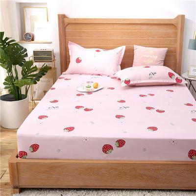 2021新款-仿棉单床笠 120cmx200cm 草莓派