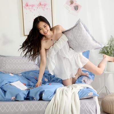 2019新款-芦荟棉四件套模特图 1.5m三件套 小幸运