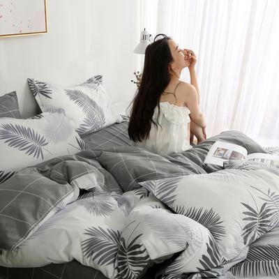 2019新款-芦荟棉四件套模特图 1.5m三件套 叶羽