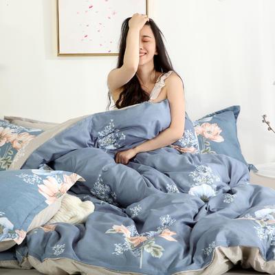 2019新款-芦荟棉四件套模特图 1.5m三件套 忆美