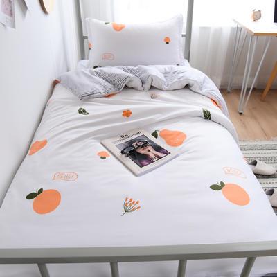 2019新款-芦荟棉高低床单被套 150x200cm 欢乐果园