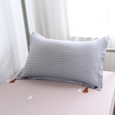 2019新款-芦荟棉高低床单枕套 46cmX72cm/一对 北欢庄园