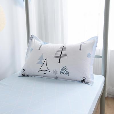2019新款-芦荟棉高低床单枕套 46cmX72cm/一对 灵动