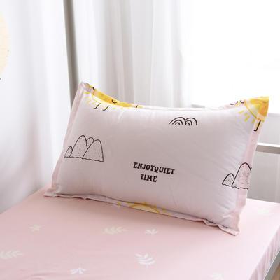2019新款-芦荟棉高低床单枕套 46cmX72cm/一对 萌橘