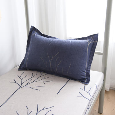 2019新款-芦荟棉高低床单枕套 46cmX72cm/一对 秋林